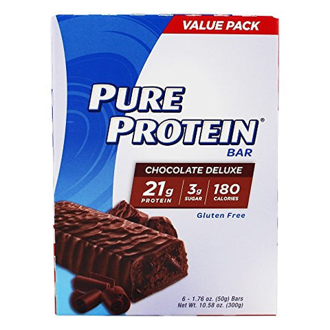 Pure Protein Chocolate Deluxe Value Pack,6 Count 50 Gram Bars (Pack of 36 Bars)