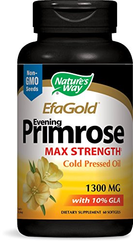 Nature's Way Efa Goldâ® Evening Primrose Max Strength Cold Pressed Oil 1300 Mg With 10% Gla, 60 Count