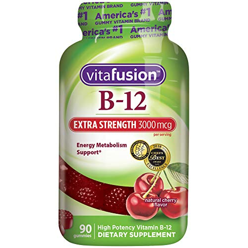 Vitafusion Extra Strength Vitamin B12 Gummies, 90 Count (Packaging May Vary)
