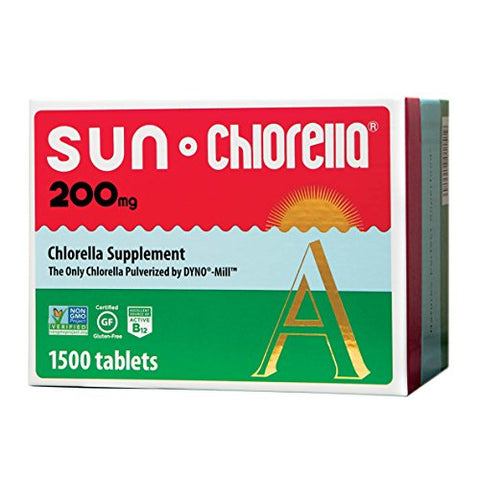 Sun Chlorella - Chlorella Superfood Nutritional Supplement- 500 Mg (200 Mg - 1500 Tablets)