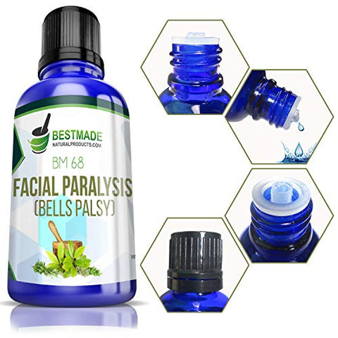Facial Paralysis (Bell's Palsy) BM68 15mL, A Natural Remedy to Help with Facial Drooping and Distortion, Tearing Eyes, Loss of Taste and Inability to Close The Eye