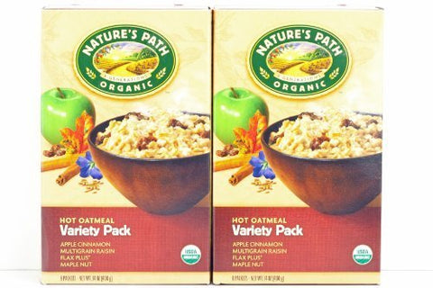 Nature's Path Organic - Instant Hot Oatmeal 8 x 50g Packets Variety Pack - 14 oz. by Nature's Path