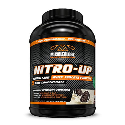 Muscleology Nitro-Up Cookies & Cream Supplement, 5 Pound