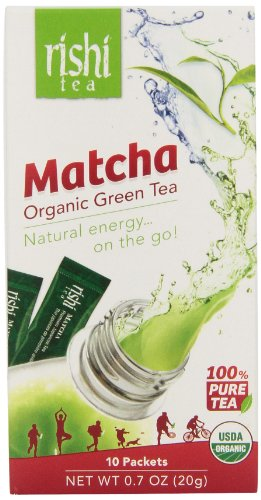 Rishi Matcha Travel Packs, Organic Green Tea Powder, 12 Packets