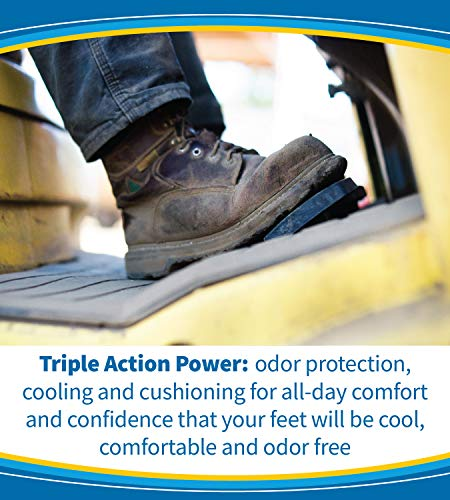 Dr. Scholl's ULTRACOOL Insoles // Triple Action: Odor Protection with Activated Charcoal, Cooling with Vents and Supportive Cushioning for All-Day Comfort (for Men's 8-13)