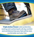 Image of Dr. Scholl's ULTRACOOL Insoles // Triple Action: Odor Protection with Activated Charcoal, Cooling with Vents and Supportive Cushioning for All-Day Comfort (for Men's 8-13)