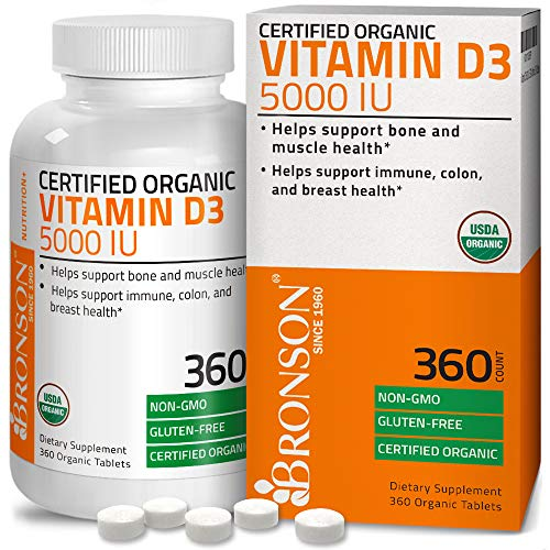 High Potency Vitamin D3 5000 Iu For Immune Support, Healthy Muscle Function & Bone Health, Usda Cert