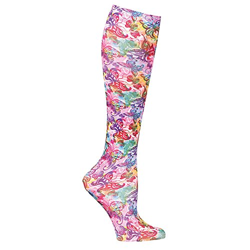Celeste Stein Women's Moderate Compression Knee High Stockings - Butterflies