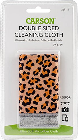 Carson Double Sided Microfiber Cleaning Cloth, Safari Leopard