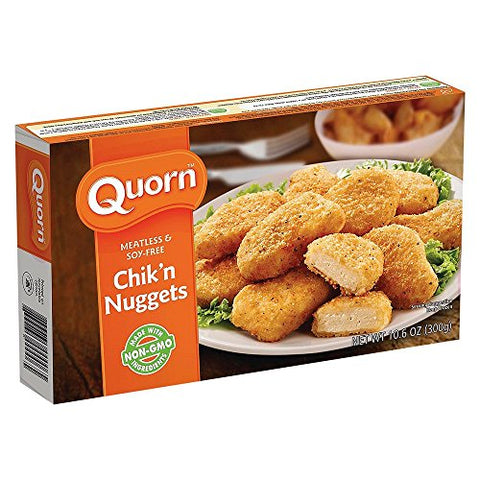 QUORN Chik'n Nuggets Meatless and Soy Free, 10.6 Ounce (Pack of 12)