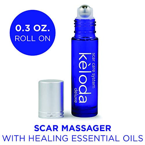 Keloda Deluxe Scar & Keloid Removal Oil & Massager, 0.33 Oz | For Treatment Of Surgical Scars And Pi