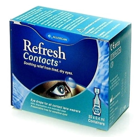 Allergan Refresh Contacts Single Dose Eye Drops 20 X 0.4Ml