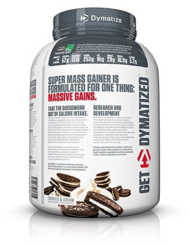 Dymatize Super Mass Gainer Protein Powder, 1310 Calories & 52g Protein, Gain Strength & Size Quickly