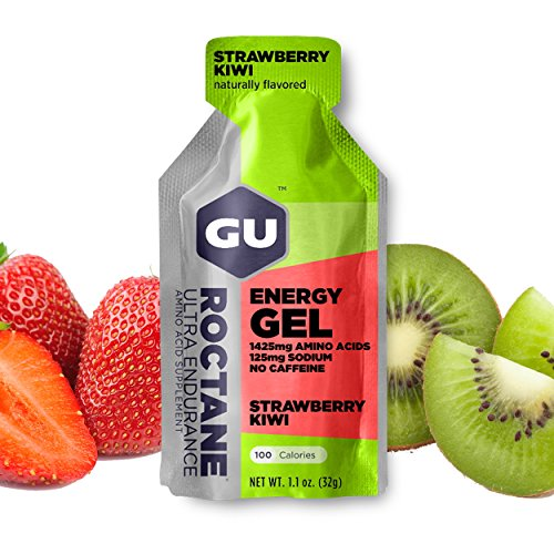 Gu Energy Roctane Ultra Endurance Energy Gel, 24 Count, Strawberry Kiwi