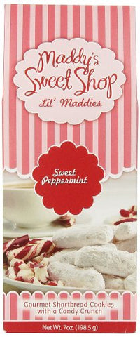 Maddy's Sweet Shop Peppermint Shortbread, 7-Ounce Boxes (Pack of 6)
