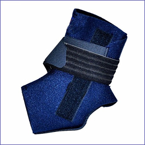 Neoprene Adjustable Ankle Compression Support Brace w/Dual Aluminum Stabilizers (Blue)