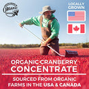 Image of Organic Cranberry Pills - 50:1 Concentrate Equals 25,000mg of Fresh Cranberries (Vegan) for Kidney Cleanse & Urinary Tract Health - UTI Vitamins Support - Fruit Extract Supplement - 60 Capsules