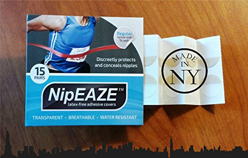 NipEaze ~ The Original Transparent Nip Protector - Nipple Chafing Prevention (Extra - 12pairs)