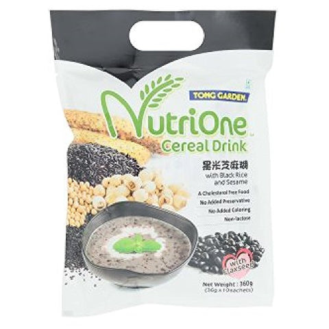 Tong Garden Nutrione Cereal Drink 360g (628MART) (Black Rice and Sesame, 12 Pack)