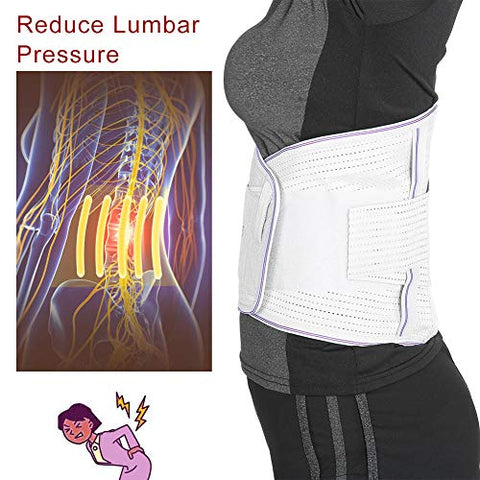 Waist Massage Belt, Self Heating Massage Belt Tourmaline Magnetic Massage Belt High Waist Protection Belt Relieve Pain(L)