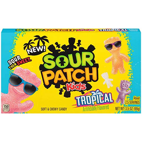 Sour Patch Kids Tropical Sweet and Sour Gummy Candy 3.5 Ounce Box
