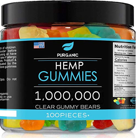 Gummies for Stress & Relaxation  1,000,000 - Great for Stress, Anxiety & Relief  Made in USA  Tasty & Relaxing Gummies  100ct
