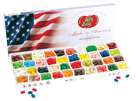 Jelly Belly 40 Flavor Jelly Bean Patriotic Gift Box - Genuine, Official, Straight from the Source
