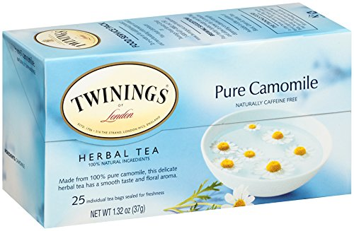Twinings of London Pure Camomile Herbal Tea Bags, 25 Count (Pack of 6)