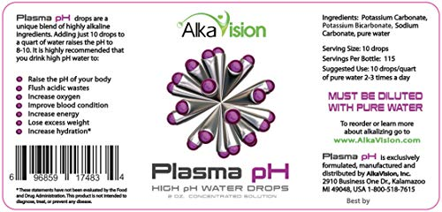Plasma pH Drops 2 oz by AlkaVision 115 Servings - Original