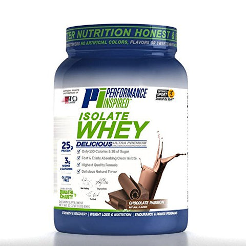 Performance Inspired Nutrition Isolate Whey Protein, 2 lb, Chocolate Passion - Style #: ISOCHOC