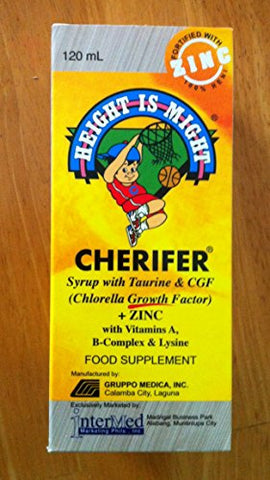 2 Cherifer Syrup w/Taurine, CGF (Chlorella Growth Factor) and Zinc (2 x 120ml)
