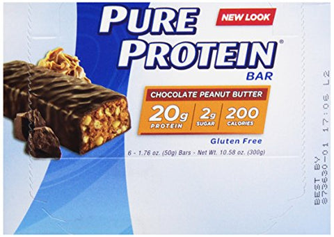 Pure Protein Bar, Chocolate Peanut Butter, 1 pack 6 Count