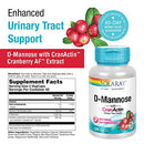 Image of Solaray D-Mannose with CranActin Cranberry Extract 1000 Milligram | for Normal, Healthy Urinary Tract Support | with Vitamin C | Non-GMO, Vegan | 120 Count