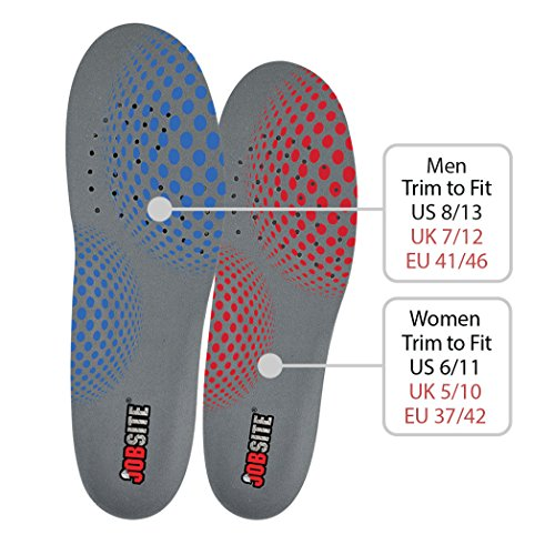 Jobsite Gel Work Insoles - Trim to Fit - US Mens 8-13