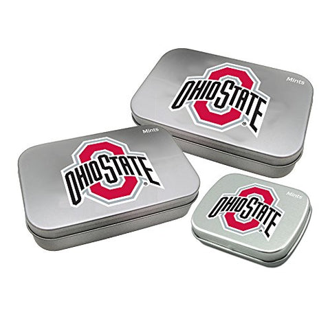 Worthy Promotional NCAA Ohio State Buckeyes Decorative Mint Tin 3-Pack with Sugar-Free Mini Peppermint Candies