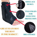 Image of MEDIZED Ankle Stabilizer Brace Support Guard Protector Sports Safety Foot Strain Stirrup Compression Strap Speed Lacer Soccer Baseball Netball Volleyball (Medium)