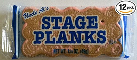 Uncle AL's Old Fashioned Stage Planks 12 Sleeves 24 Cookies