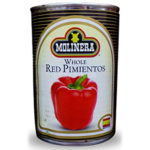 La Molinera Whole Red Peppers - Pimientos Rojos Enteros 7 oz