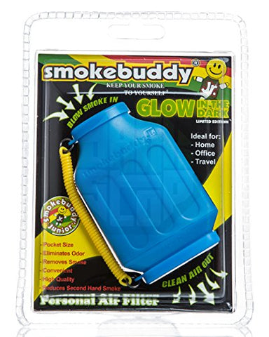 Smokebuddy 0160-GBL Junior Glow in the Dark Personal Air Filter, Dark Blue
