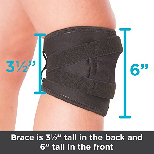 BraceAbility Patellar Tracking Short Knee Brace | Running, Exercise & Basketball Support Sleeve Stabilizer for Post Kneecap Dislocation, Tendonitis, Patellofemoral Pain & MCL/LCL Injuries (Large)