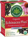 Image of Traditional Medicinals Organic Echinacea Plus Elderberry Seasonal Tea, 16 Tea Bags (Pack Of 6)