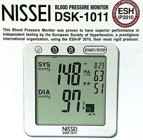 Nissei DSK-1011 Blood Pressure Monitor for Upper Arm