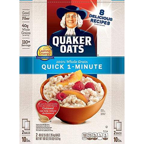 Quaker Oats Quick 1 Minute Oatmeal, 10 Pound