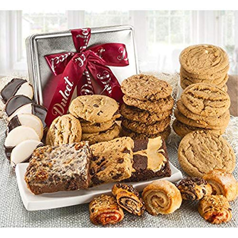 Dulcet Gift Basket Party Tin Box, Sweet Treats, Snack Care Package, For Every Special Occasion The Perfect Gift for Holidays, Birthday, Sympathy, Get Well, & Family or Office Gatherings for Men & Wome