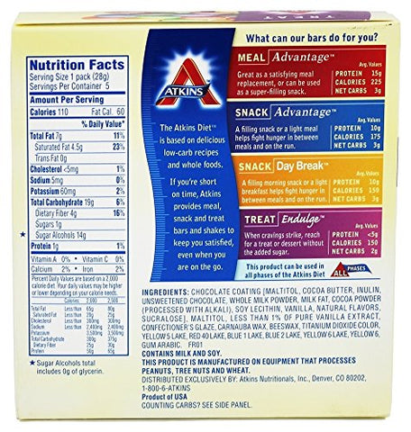ATKINS ENDULGE CANDY,CHOCOLATE, 5/1 OZ