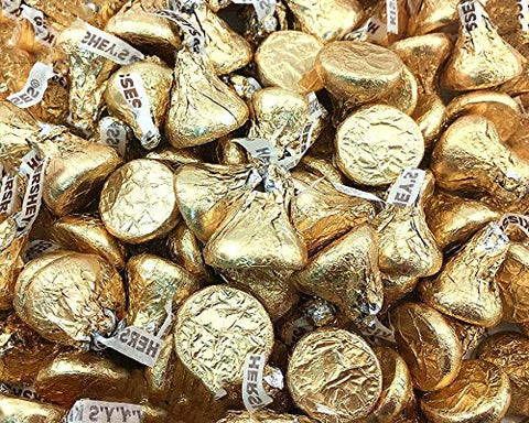 Hershey's Kisses Creamy Milk Chocolate Gold Wrapping 4 Pounds
