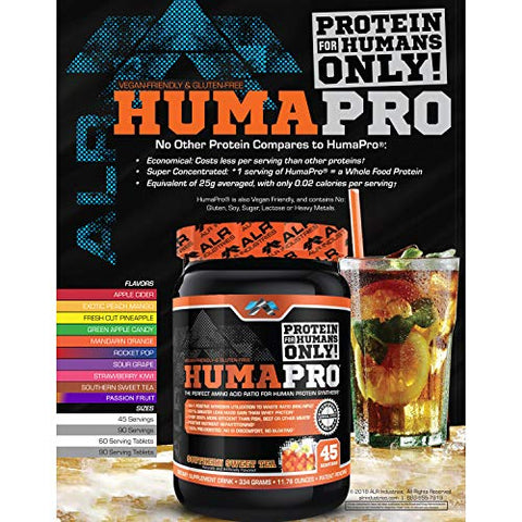ALR Industries Humapro, Protein Matrix Blend, Formulated for Humans, Amino Acids, Lean Muscle, Vegan Friendly, Passion Fruit, 334 Grams
