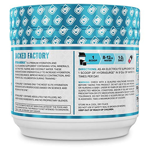 HYDRASURGE Electrolyte Powder - Hydration Supplement with Key Minerals, Himalayan Sea Salt, Coconut Water, More - Keto Friendly, Sugar Free & Naturally Sweetened - 60 Servings, Refreshing Watermelon