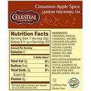Image of Celestial Seasonings Cinnamon Apple Spice Caffeine Free Herbal Tea 20 ct (Pack of 6)