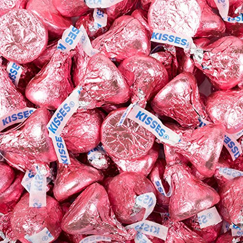 Pink Candy Hershey's Kisses Chocolate 1lb (Free Cold Packaging)